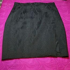 Altuzarra Black Snakeskin Pencil Skirt size 12